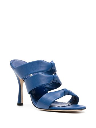 Manolo Blahnik multi-strap slip-on Sandals - Farfetch