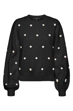 VERO MODA Polka Dot Sweater | Nordstrom