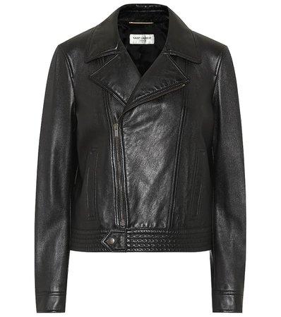 Leather Biker Jacket | Saint Laurent - Mytheresa