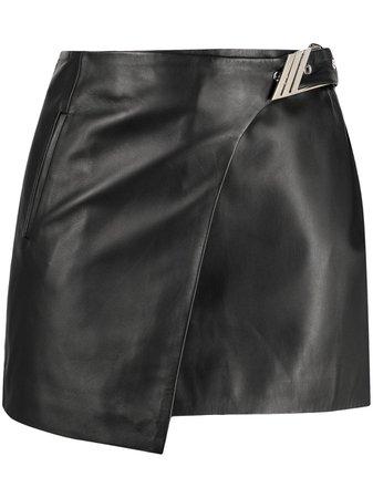 The Attico Buckled Wrap Mini Skirt - Farfetch
