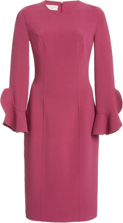 Michael Kors Collection Ruffled Crepe Dress
