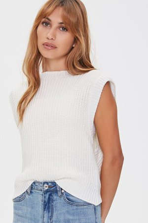 Ribbed Sweater-Knit Vest