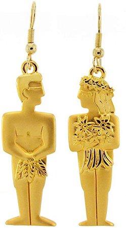Vintage Adam & Eve Earrings