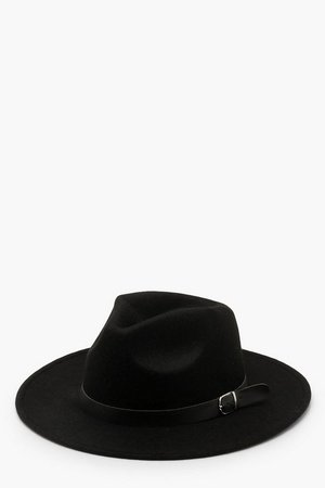 Fedora Hat With Buckle Trim | Boohoo