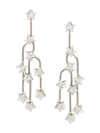 Silver P.a.r.o.s.h. Star Crystal Chandelier Earrings | Farfetch.com