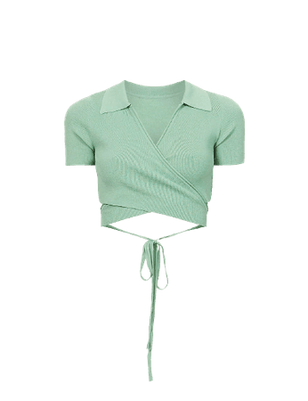 JACQUEMUS - Le polo Cache-coeur cropped knitted top