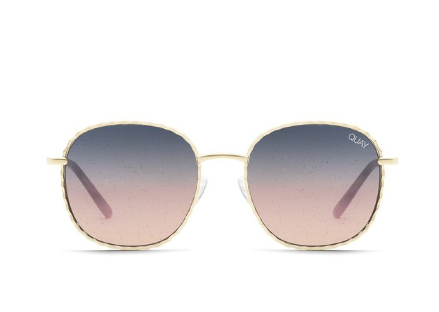 JEZABELL TWIST Glitter Sunglasses | Quay Australia
