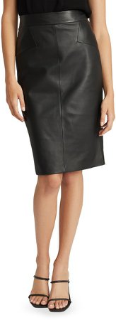 Reagan Leather Pencil Skirt