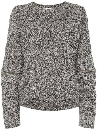 Alexander McQueen zip-sleeve chunky sweater £940 - Shop Online. Same Day Delivery in London