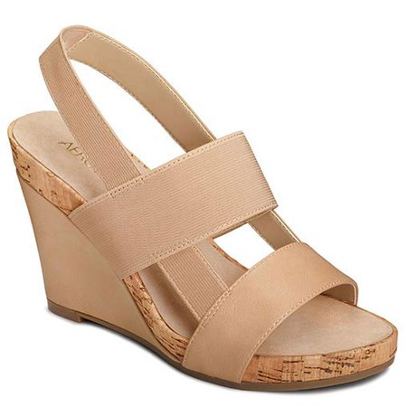 Aerosoles Light Tan Magnolia Plush Wedge