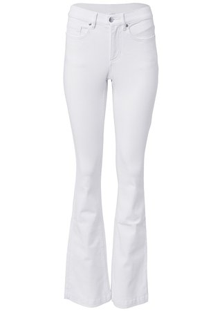 Casual Bootcut Jeans in White | VENUS