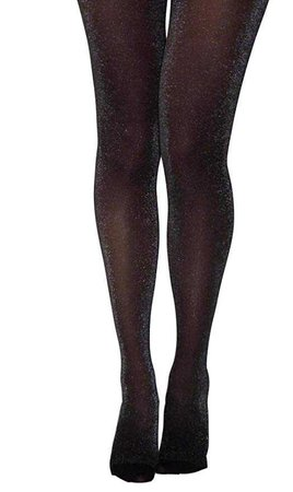 Essexee Legs Black-Silver Lurex Tights. Sizes: M, L, XL. Glitter Fashion Tights.: Amazon.co.uk: Clothing