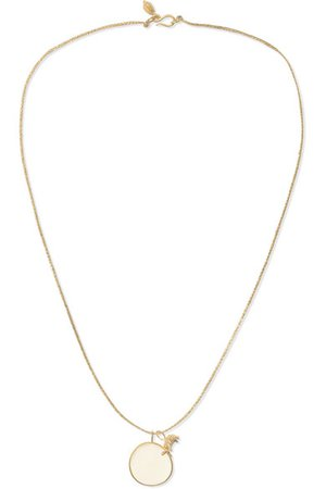 Pippa Small | 18-karat gold moonstone necklace | NET-A-PORTER.COM