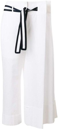 oversize pleat detail trousers
