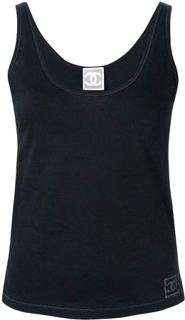 Pre-Owned Sports Line logo tank top