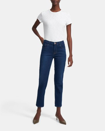 Adele Mid-Rise Straight Jean in Comfort Stretch