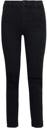 Alana Distressed High-rise Skinny Jeans