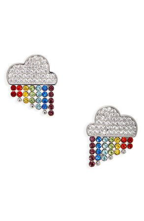 kate spade new york into the sky rainbow stud earrings | Nordstrom