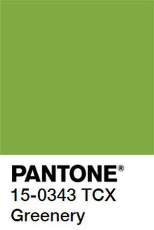 PANTONE Color: Greenery