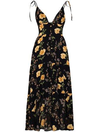 Reformation Jaden floral-print Midi Dress - Farfetch