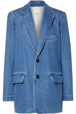 Tibi | Oversized stretch-denim blazer | NET-A-PORTER.COM