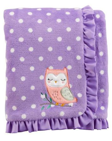 Baby Girl Owl Plush Blanket | Carters.com