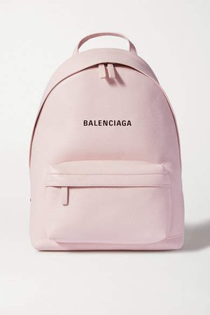 Everyday Printed Leather Backpack - Pink