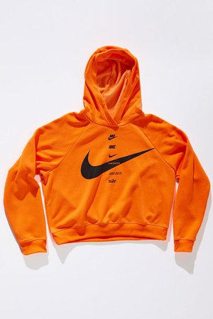 Nike Sportswear Swoosh Fleece Hoodie Sweatshirt   Urban Outfitters