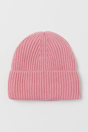 Ribbed Hat - Pink