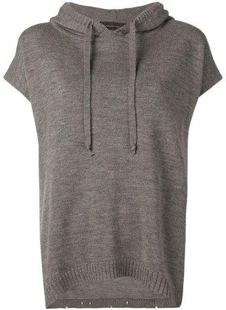 Federica Tosi cap sleeve hoodie