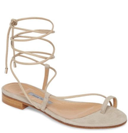 Designer ankle tie sandals