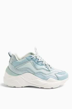 CANCUN Blue Chunky Trainers | Topshop
