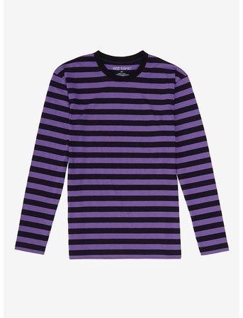 Purple & Black Stripe Long-Sleeve T-Shirt