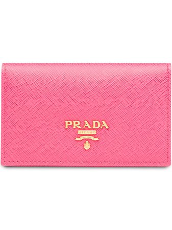 Prada logo-plaque Folding Wallet - Farfetch