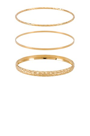 X REVOLVE The Bold & Finesse Bangle Set