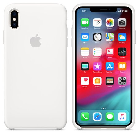 iPhone XS Max Silicone Case - Lavender Gray - Apple