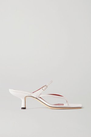 Desiree Leather Sandals - White