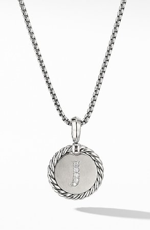 David Yurman Initial Charm Necklace with Diamonds | Nordstrom