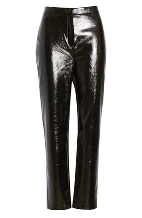 Leith Straight Leg Faux Leather Pants | Nordstrom