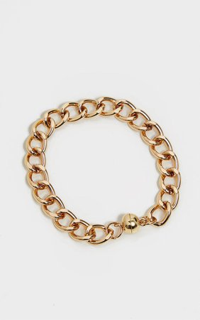 Silver Chunky Single Chain Bracelet | PrettyLittleThing USA