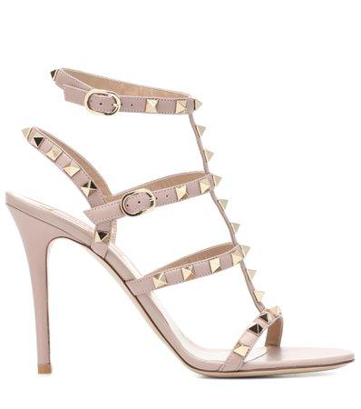 Valentino Garavani - Valentino Garavani Rockstud leather sandals | Mytheresa