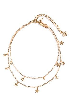 Oscar de la Renta Crystal Star Pendant Layer Necklace | Nordstrom
