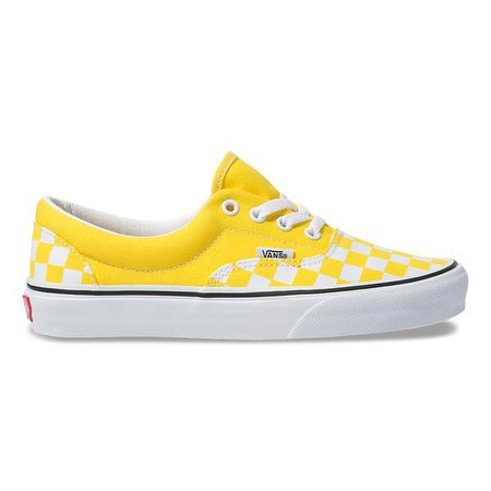 Vans Women's Checkerboard Era Yellow/White – Tip Top Shoes