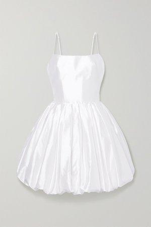 White Silk-satin mini dress | RASARIO | NET-A-PORTER