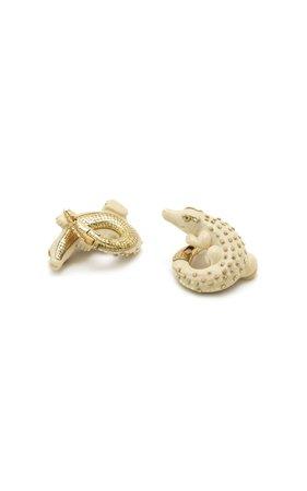 Bibi van der Velden Mammoth Alligator Twist Earrings