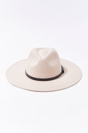 Faux Leather-Trim Fedora | Forever 21