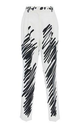 Tapered Crepe Pants by Moschino | Moda Operandi