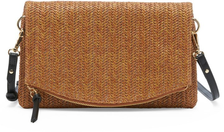 Textured Faux Leather Clutch