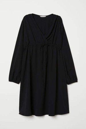 MAMA V-neck Blouse - Black