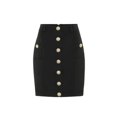 Wool Mini Skirt | Balmain - Mytheresa